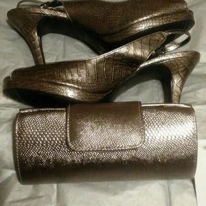 Slingback Heels/ Evening Bag